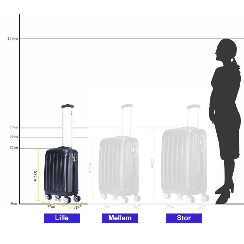 kuffert størrelse