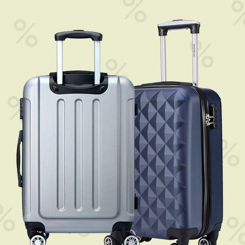 Billige kufferter i alle størrelser og farver